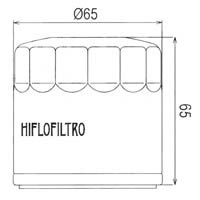 Hiflo Oil Filter - HF554 Approximate Dimensions