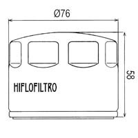 Hiflo Oil Filter HF565 Approximate Dimensions