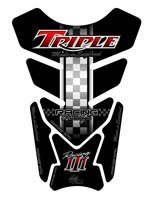 Triumph Triple (Black / Red) Motografix Tank Pad