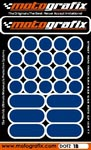 Motografix Strips and Dots - Dark Blue