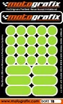 Kawasaki Light Green Motografix Strips and Dots