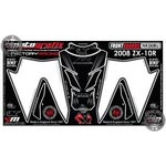 Kawasaki ZX-10R Ninja (2008 to 2009) Motografix Front Number Board and Tank Pad