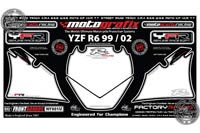 Yamaha YZF-R6 Motografix Front Number Board