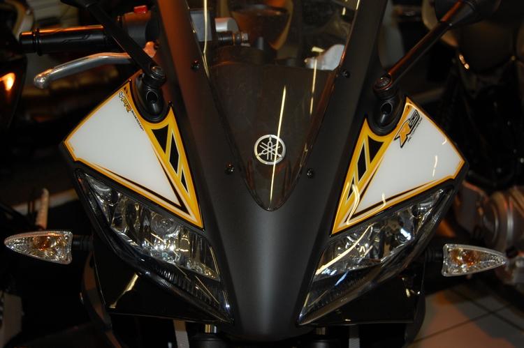 Yamaha Yzf R125 Yellow Motografix Number Boards Ny015y