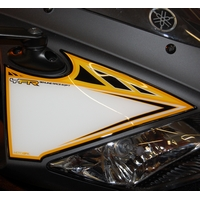 Yamaha YZF-R125 Yellow / White Motografix Front Number Board