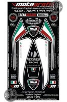 Ducati 916 (White) Motografix Rear Number Board