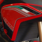 Ducati Multistrada 1200 Motografix Front Fairing Side Shield 3D Gel Protection System (DSS001R Shown Fitted)
