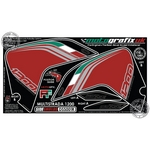 Ducati Multistrada 1200 Red Motografix Front Fairing Side Shield 3D Gel Protection System (DSS001R)