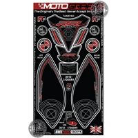 BMW S1000RR Motografix (Black and Red) knee boards and tank pad (KB009K)