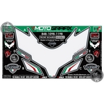 Ducati 848 / Ducati 1098 (2007 to 2008) White Motografix Front Fairing Number Board 3D Gel Protection System (ND008U)
