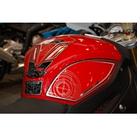 BMW S1000RR Motografix (Red) knee boards and tank pad (KB009R