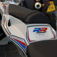 BMW S1000RR Motografix (White / Red / Blue) Rear Number Board (RB0009MS)