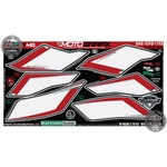 Ducati 848 / Ducati 1098 (2007 to 2008) White / Red Motografix Rear Seat unit Number Board 3D Gel Protection System (RD008WK)