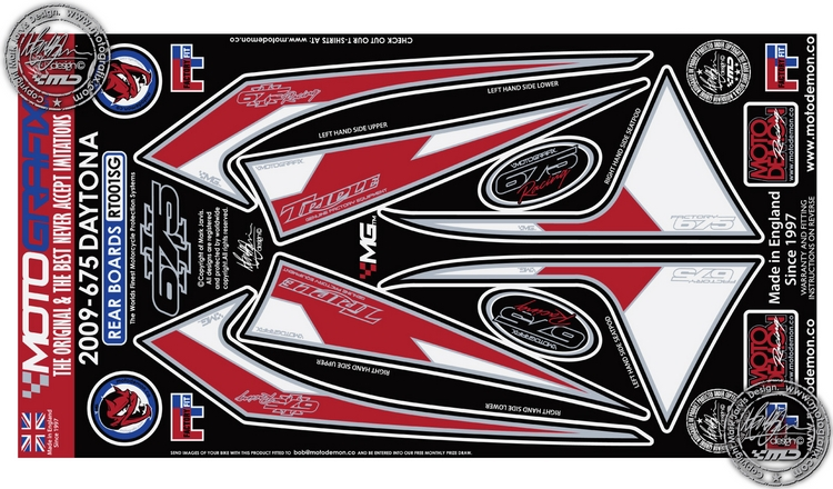 Triumph Daytona 675 2006-12 Rear Number Board Motografix 3D Gel Protector