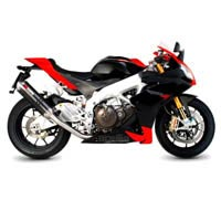 Aprilia RSV4 Scorpion Carbon Fibre Oval Factory Exhaust (with Stainless Steel oulet)