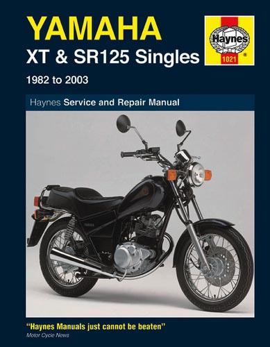 Haynes Manual - Yamaha Sr125    Xt125 - 1021