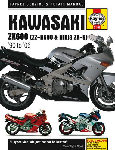 Haynes Manual - Kawasaki Zzr600 - 2146