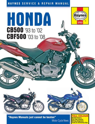 Honda Cb500 And Cbf500 Haynes Manual - 3753