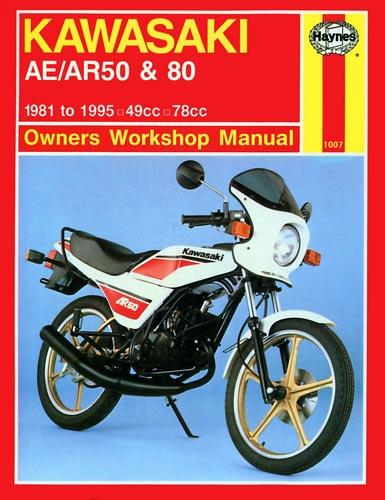 haynes manual kawasaki ae50  ar50 and ae80  ar80 1007
