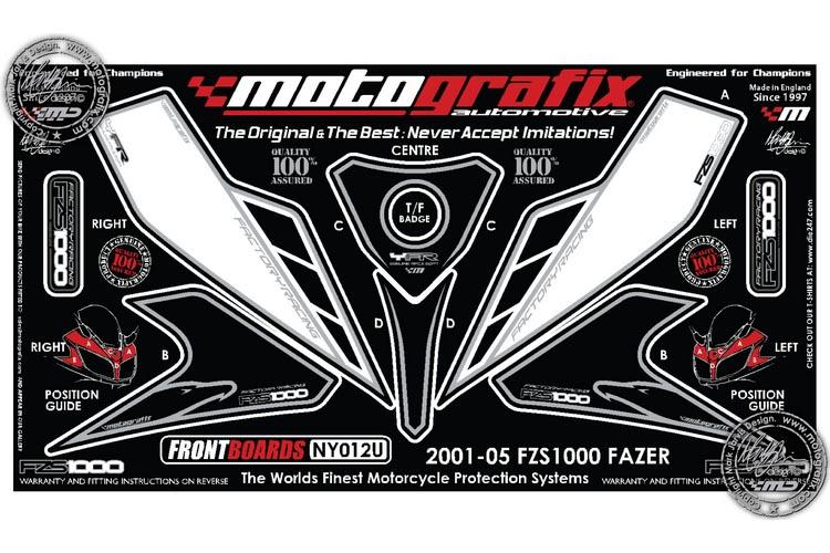 Yamaha Fzs1000 Black Motografix Front Number Board Ny012u