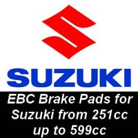 EBC Brake Pads for Suzuki Motorcycles from 251cc to 599cc