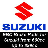 EBC Brake Pads for Suzuki Motorcycles from 600cc to 899cc