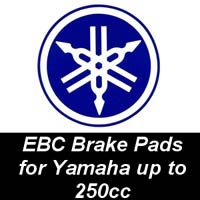 EBC Brake Pads for Yamaha Motorcycles up to 250cc