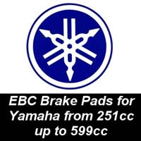 EBC Brake Pads for Yamaha Motorcycles from 251cc to 599cc