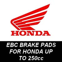 EBC Brake Pads for Honda Motorcycles up to 250cc