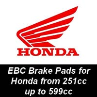 EBC Brake Pads for Honda Motorcycles from 251cc to 599cc