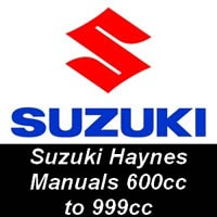 Haynes Manuals for Suzuki Motorcycles from 600cc up to 999cc