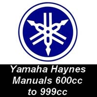 Haynes Manuals for Yamaha Motorcycles from 600cc up to 999cc