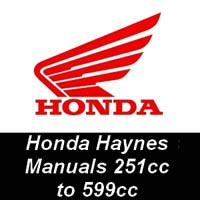 Haynes Manuals for Honda Motorcycles from 251cc up to 599cc