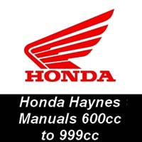 Haynes Manuals for Honda Motorcycles from 600cc up to 999cc