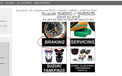 Suzuki Motorcycle Accessories